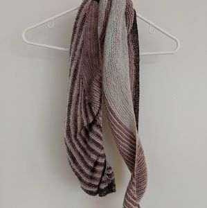Accessories - Multi colored pink, cream and grey scarf.